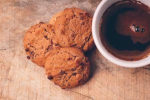 チョコチップクッキー コーヒー