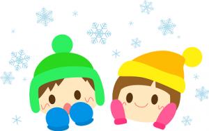 子供 帽子 手袋 雪 イラスト