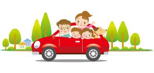 車 家族 旅行 イラスト