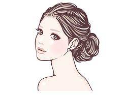 女性 美肌 イラスト