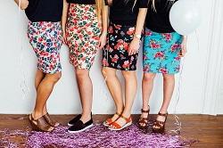 ニットタイトスカート カラー