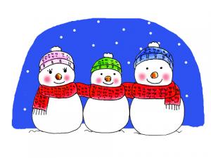雪だるま 家族 マフラー イラスト