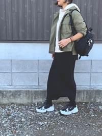 ニットタイトスカート パーカー ジャケット