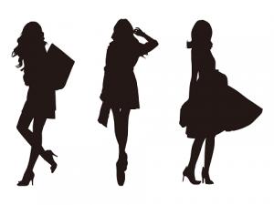 女性 ファッション シルエット