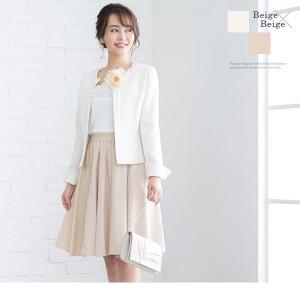 入学式 ママ 服装 ジャケットスタイル スカート