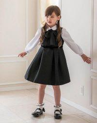 女の子 入学式 黒のワンピース