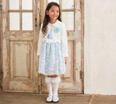 女の子 入学式 ブルー系ワンピース