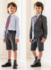 男の子 グレー スーツ ハーフパンツ