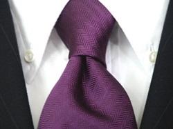ディンプル ネクタイ 紫