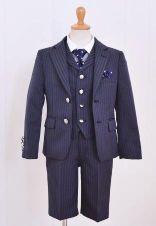 男の子 スーツ ネイビーストライプ