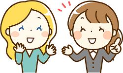 外国人 日本人 女性 会話 イラスト