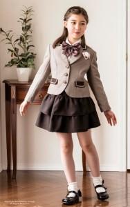 女の子 制服風スカートスーツ フリルスカート 入学式