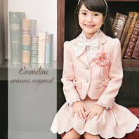 女の子 ピンクのスカートスーツ 入学式