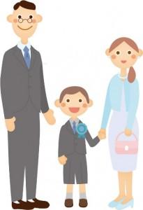 入学式 家族 イラスト
