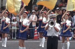 神奈川警察音楽隊 ドリル演技 相模原市民若葉まつり