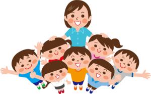 小学校 女の先生と生徒たち イラスト