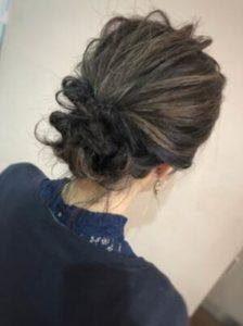 ミディアム 髪型 アップスタイル