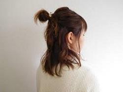 髪型 お団子