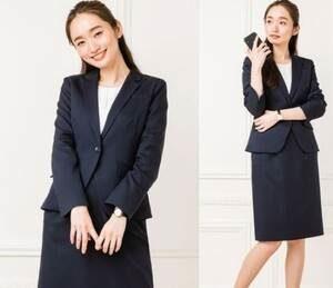 女性 ネイビー スーツ