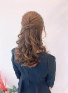 ロング 髪型 ハーフアップ
