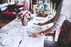 ランチ テーブル セッティング