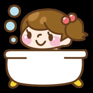 お風呂に入る女の子 イラスト