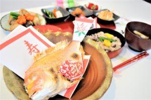 お祝い料理 鯛 お赤飯