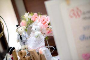 結婚式 クマのぬいぐるみ