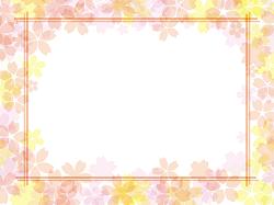桜 模様 メッセージカード イラスト
