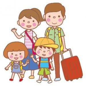 家族旅行 イラスト