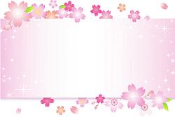 桜柄のメッセージボード イラスト
