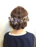 編み込み お花