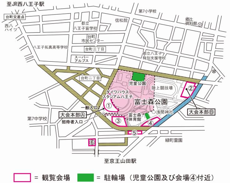 八王子花火大会 観覧場所 地図