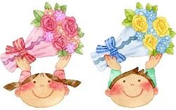 男の子 女の子 花束 イラスト