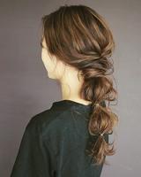 ロング 髪型 何回かクルリンパ