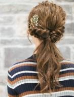 ねじりアレンジ 髪型 ロング