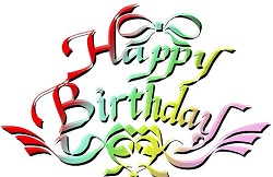 Happy birthday 英語