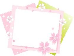 メッセージカード 桜