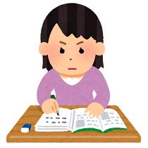 勉強中の女の子 イラスト