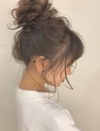 ルーズお団子 髪型