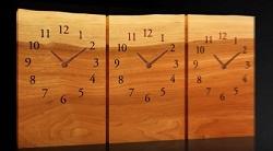 3連時計 板