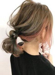 ミディアム 髪型 まとめ髪