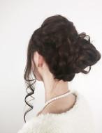 華やかなお団子 髪型