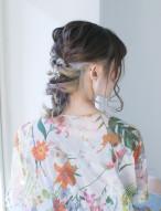 編み込み 髪型