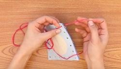 刺繍糸 穴 フェルト 布