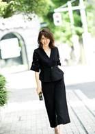 ブラック パンツドレス