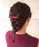ミディアム 髪型 三つ編みアレンジ