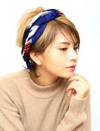 スカーフアレンジ 髪型 ショートヘア