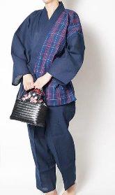 甚平 レディース コーデ 50代