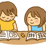 夏休み 宿題 イラスト
